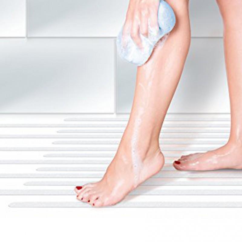 Per bagno e doccia 20 strisce adesive antiscivolo for Greche adesive per bagno