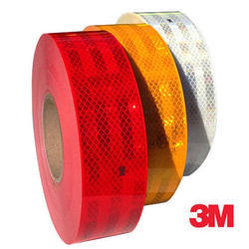 3 M Arancione SODIAL 5cm Nastro Adesivo di Sicurezza Nastro Catarifrangente 3 M