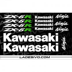KIT 14 ADESIVI KAWASAKI ZX6R
